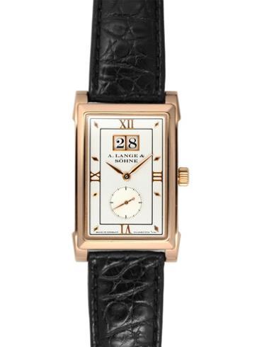 朗格腕表玫瑰金表扣CABARET系列107.032皮质表带