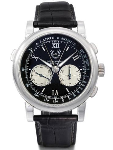 朗格高级腕表系列DOUBLE SPLIT 404.035黑色表带
