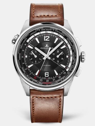 积家北宸系列世界时间计时腕表钛合金款905T471黑色表盘
