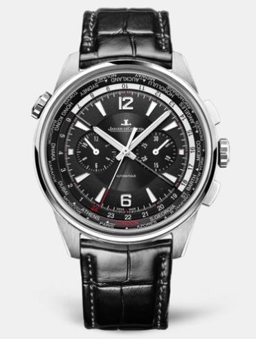 积家北宸系列世界时间计时腕表钛合金款905T470黑色表盘