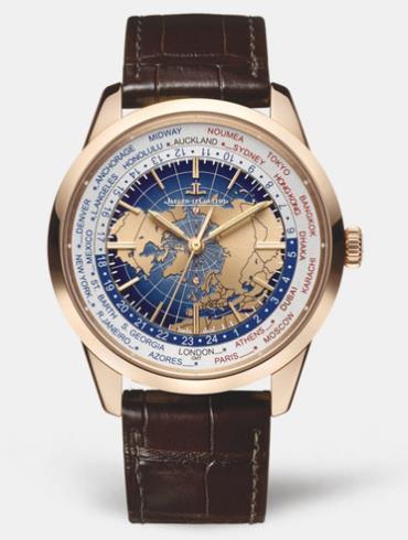 积家Geophysic?UniversalTime地球物理天文台世界时间8102520深棕色表带