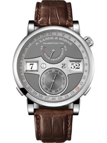 朗格ZEITWERK系列环形日期腕表148.038 18k白金表扣
