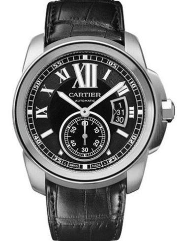 卡地亚卡历博系列W7100041黑色表带