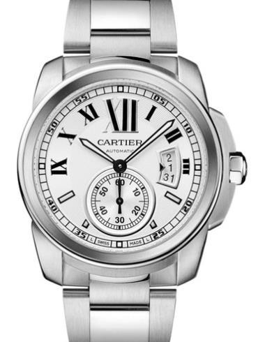 卡地亚卡历博系列W7100015银色表带