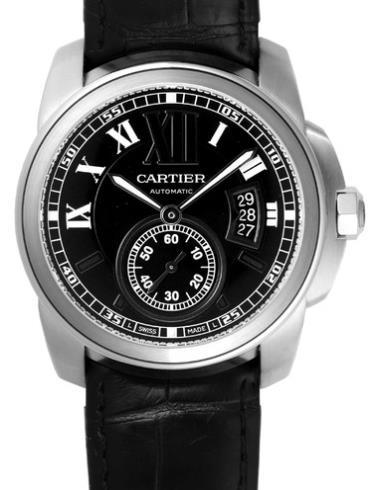 卡地亚卡历博系列W7100014银色表带