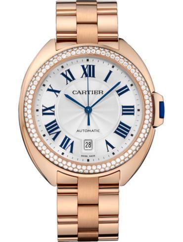 卡地亚Clé de Cartier系列WJCL0009金色表带男士手表