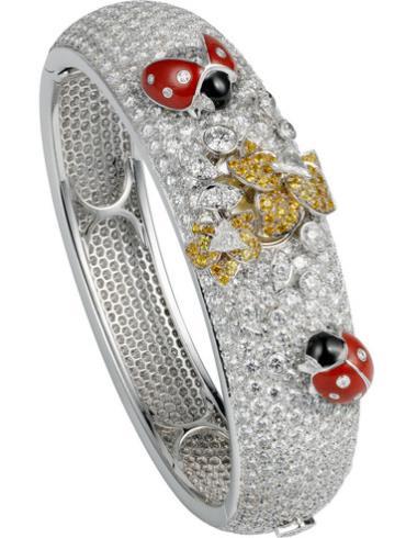 卡地亚创意宝石腕表系列HPI00538白色表盘