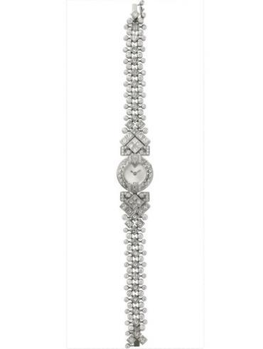 卡地亚创意宝石腕表系列HPI00534银白色表盘