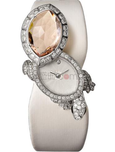 卡地亚创意宝石腕表系列HPI00519银白色表盘