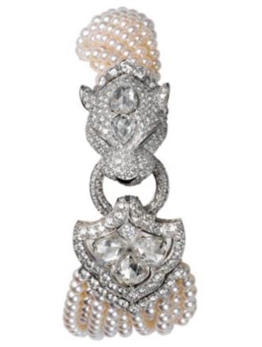 卡地亚创意宝石腕表系列HPI00469银白色表盘