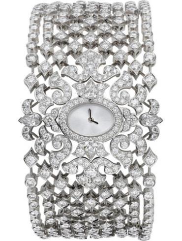 卡地亚创意宝石腕表系列HPI00464银白色表带