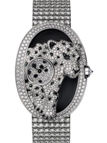 卡地亚创意宝石腕表系列HPI00763银灰色表盘
