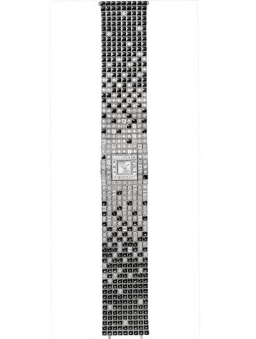 卡地亚创意宝石腕表系列HPI00748银白色表盘