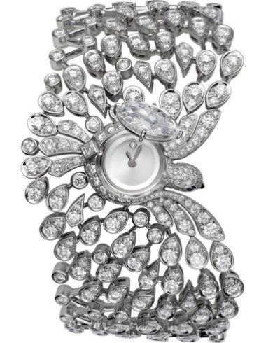卡地亚创意宝石腕表系列HPI00747白色表带