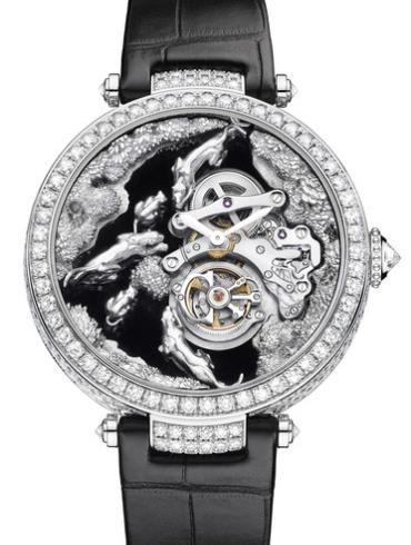卡地亚创意宝石腕表系列HPI00720黑色表带