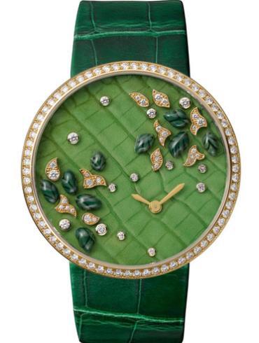 卡地亚创意宝石腕表系列HPI00693HPI00714绿色表带