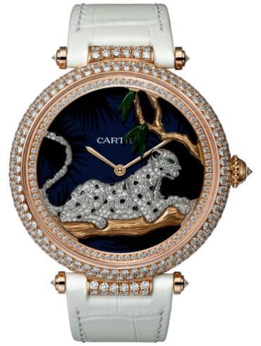 卡地亚创意宝石腕表系列HPI00712玫瑰金表扣