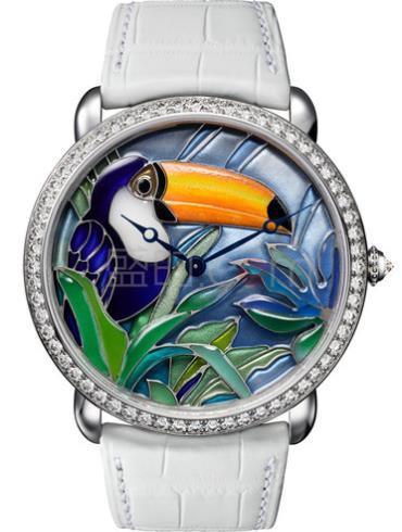 卡地亚创意宝石腕表系列HPI00701白金表扣