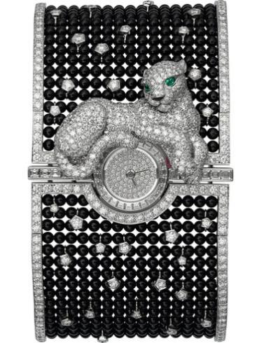 卡地亚创意宝石腕表系列HPI00686防水深度30m