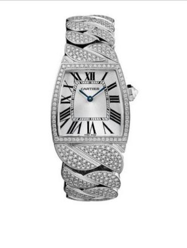 卡地亚创意宝石腕表系列WE6001MX银灰色表盘