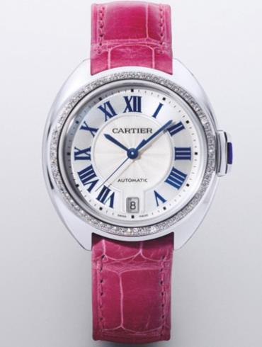 卡地亚Clé de Cartier系列白金女款CLE_DE_CARTIER4白色表盘
