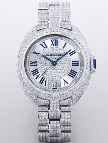 卡地亚Clé de Cartier系列白金女款CLE_DE_CARTIER3白色表盘