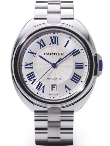 卡地亚Clé de Cartier系列白金男款CLE_DE_CARTIER1白色表盘