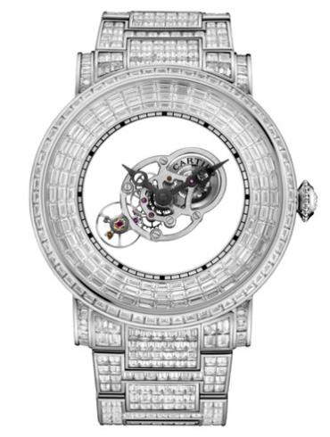 卡地亚Rotonde Astromystérieux神秘天体腕表,镶嵌梯形切割宝石HPI01072