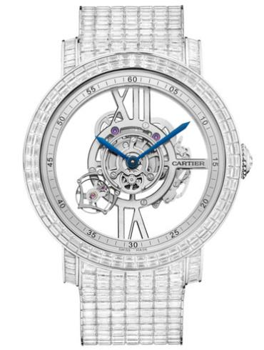 卡地亚Rotonde de Cartier Astrotourbillon天体运转式陀飞轮镂空腕表HPI00941