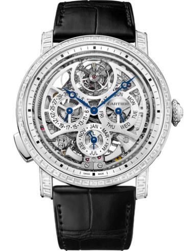 卡地亚Rotonde de Cartier高级复杂功能镂空腕表HPI00939