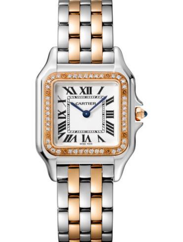 卡地亚Panthère de Cartier腕表W3PN0007间金色表带