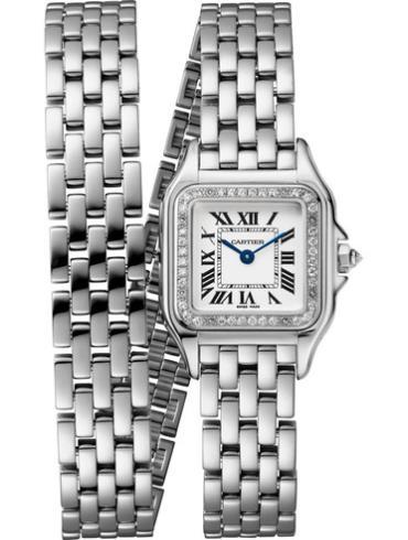 卡地亚腕表MINI白金款WJPN0012银色表带