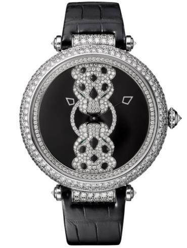 卡地亚RENCONTRE DE PANTHèRES腕表白金款HPI01203蓝宝石表镜
