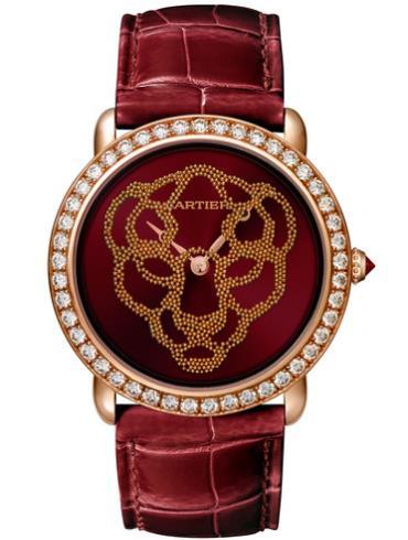 卡地亚PANTHèRE腕表37毫米玫瑰金款HPI01260红色表盘