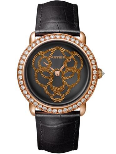 卡地亚 PANTHèRE腕表37毫米玫瑰金款HPI01259黑色表盘