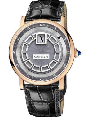 卡地亚ROTONDE系列W1553751黑色表带