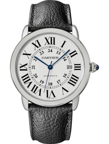 卡地亚Ronde Solo de Cartier腕表WSRN0022银色表盘