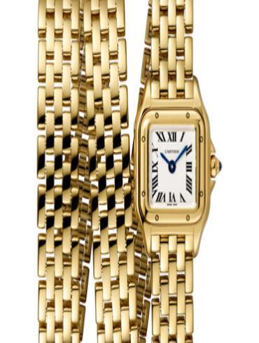 卡地亚PANTHèRE DE CARTIER腕表MINI黄金款WGPN0012金色表带