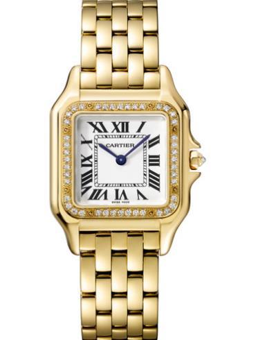 卡地亚PANTHèRE DE CARTIER 腕表黄金款WJPN0016金色表壳