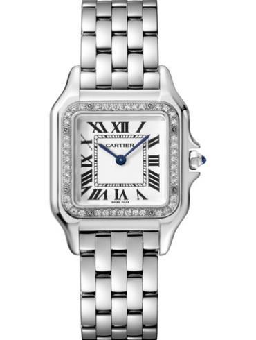 卡地亚PANTHèRE DE CARTIER腕表中号精钢款W4PN0008白色表底盖