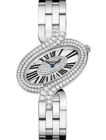 卡地亚Delices de Cartier系列WG800009白金表扣