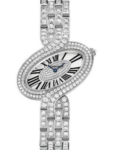 卡地亚Delices de Cartier系列HPI00459银色表盘