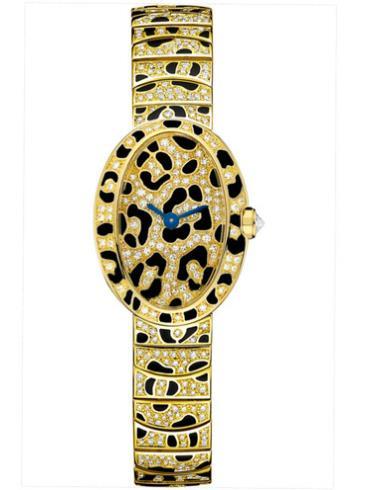 卡地亚Mini Baignoire豹纹腕表HPI00961