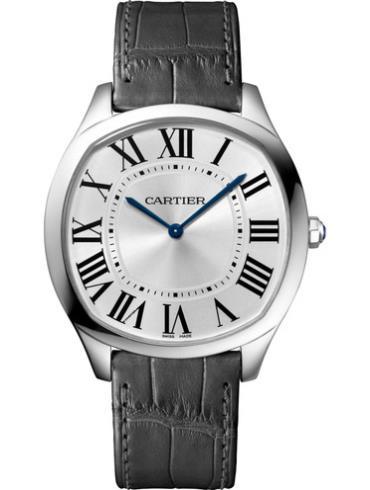 卡地亚Drive de Cartier系列超薄腕表WGNM0007白金表扣