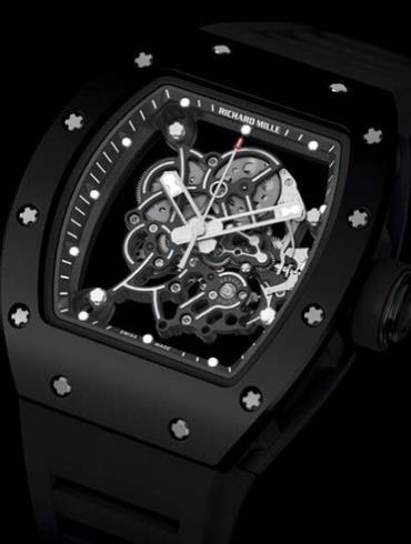 理查德米勒RM055男士手表黑色表盘