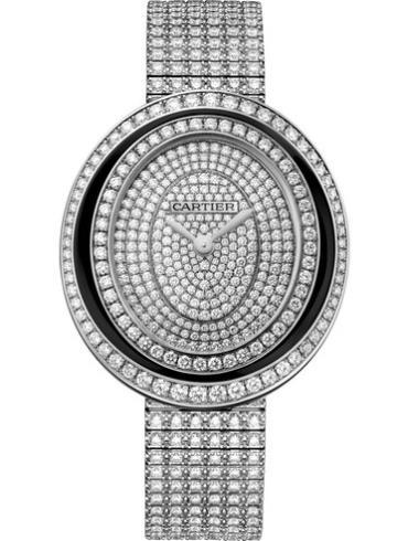 卡地亚HYPNOSE系列女表HPI01050 18k白金镶钻表扣