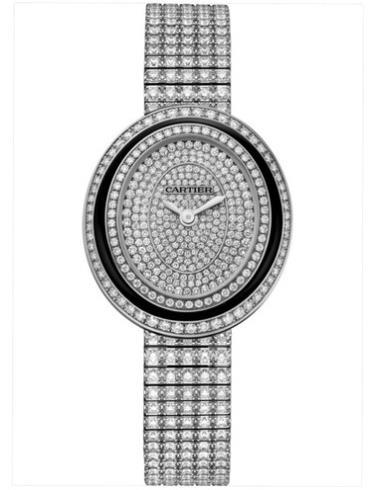 卡地亚HYPNOSE系列女表HPI01049 18k白金镶钻表扣