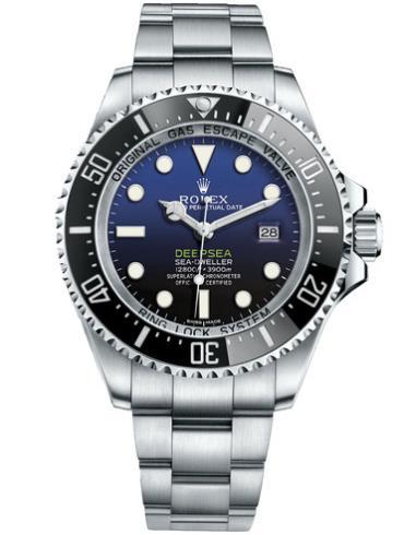 劳力士DEEPSEA海使型44精钢D-BLUE面男表116660-0003精钢表扣