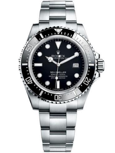 劳力士海使型4000精钢黑面男表116600-0003精钢表扣