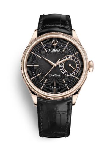 劳力士切利尼日志型50515-0011黑色表带